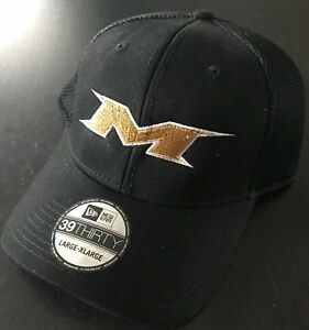 36f48c2c3f3 Image is loading Miken-Embroidered-Softball-Hat-Black-GOLD-Logo-ALL-