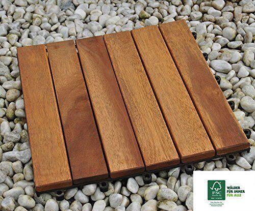 Sam® Dalle Clic de Terrasse en bois D acacia pour Env. 1 M² ...   eBay 0919e770cc8b