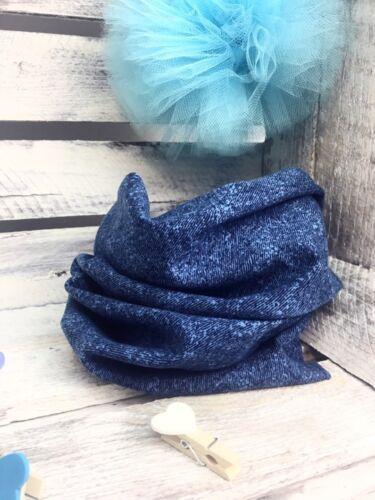 Kids Girl/'s Boy/'s Scarf Shawl Cowl Snood Autumn Denim Blue ONE SIZE