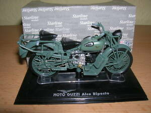 Starline-Moto-Guzzi-Alce-Biposte-gruen-green-1-24-Motorrad-Moto-Neu-OVP