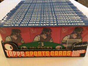 Topps Baseball Cards 1978 Wax Packs 24 3-Pack Tray Mint Sealed Never Touched
