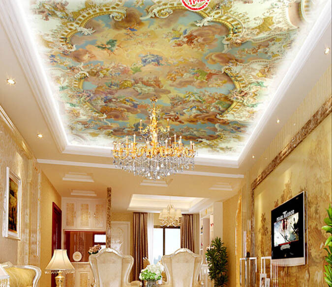 3D Castle Farbeful People WallPaper Murals Wall Print Decal Deco AJ WALLPAPER GB