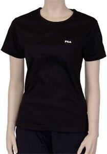 Details zu Fila Damen T-Shirt, Gr. 36 - 42, Farbe schwarz, Shirt, Bluse  Neu, Shirt Rundhals