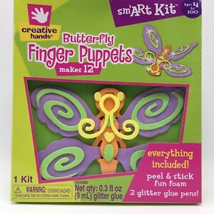 Details About New Creative Hands Erfly Finger Puppet 12 Count Foam Art Kit Craft Age 4