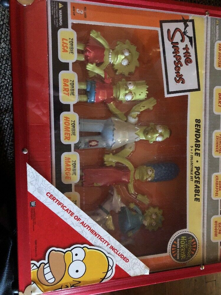 The Simpsons NJCROCE Family Family Family Bendable Figurines Rare Mega Set  1000 Made 4c45e2