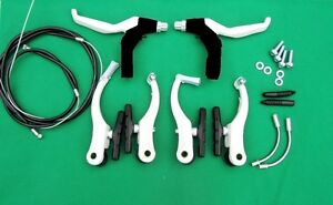 Complete MTB Bike Mountain Bicycle V Brakes /& Levers /& Cables Set Front + Rear