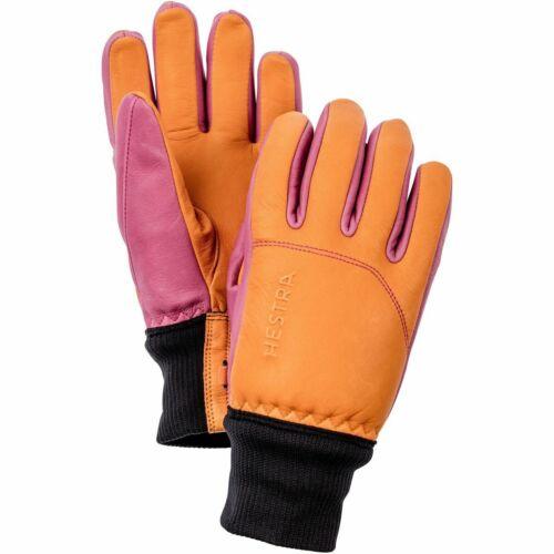 Hestra Alpine Pro Omni Leather Winter Glove Orange//Cerise Womens Sizes 6 9 8