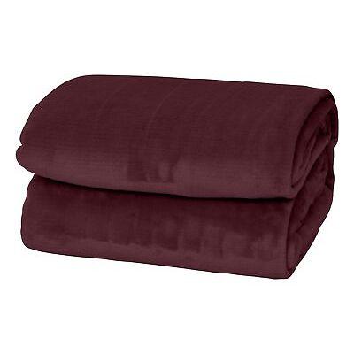 Essie Silky Soft Solid Velvet Plush Flannel Fleece Bed Couch Sofa Throw Blanket