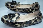 Prada Women's Black Shoes Ballerina Flats Size 39.5 Calzature Donna Vernice NIB