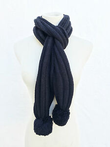 UGG-Australia-U1853-Black-Wool-Knit-Winter-Scarf