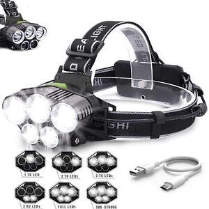 90000LM-5X-XM-L-T6-LED-HEADLAMP-HEAD-LIGHT-HEAD-TORCH-FLASHLIGHT-CAMPING-LAMP-B
