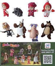 Kinder Sorpresa Masha y el oso 3 edición limitada Conjunto completo Raro Rusia 2016