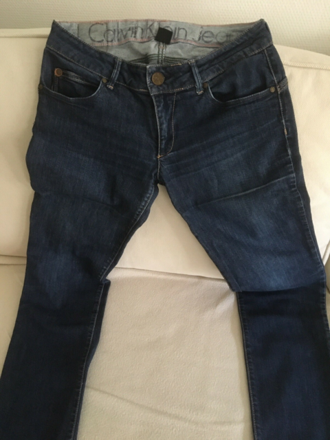 Jeans, Calvin Klein, str. 27,  Blå,  Bomuld,  God men…