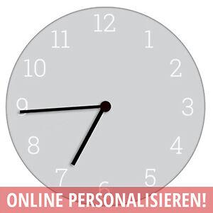 Wanduhr Zeigeruhr Uhr personalisierbar mit deinem Foto Wunschmotiv 29 cm rund