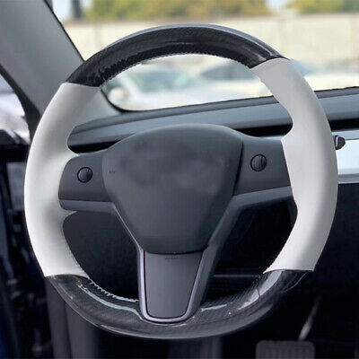 Carbon Fiber Steering Wheel Car Interior Decoration Cover Sticker tesla for Tesla Model 3 ROCCS Tesla Model 3 Steering Wheel Cover