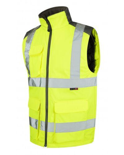 Leo workwear torrington BW01 hi vis jaune corps chauffe-classe 2 snickers direct