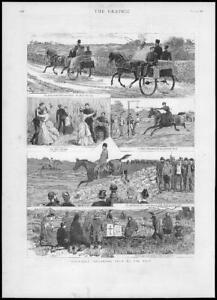 1887-Antique-Print-IRELAND-Illustrations-Horses-Cart-Pigrimage-231