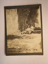 Klosterruine Allerheiligen im Juli 1911 - Mann & Frau mit Hut / Kleines KAB