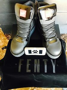 51fddb6e02c Details about Puma Fenty by Rihanna SB Black Eyelet Boot 363040-01 Size 4-13