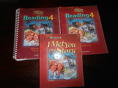 Bob Jones I MET YOU IN A STORY student set homeschooling BJU 4th grade reading