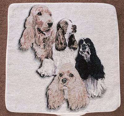 Cocker Spaniel Tapestry Pillow Shell ~ Artist Barbara Keith