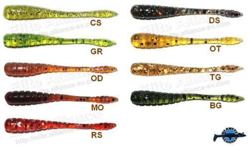 20 leurre souple Sly Worm 50 KOSADAKA 5cm pêche perche streetfishing rockfishing