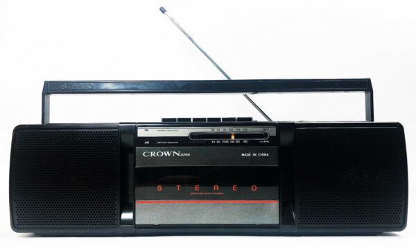 Ambitieus Crown Japan Sz-77n Vintage Portable Boombox Stereo Cassette Recorder Fm/am Radio