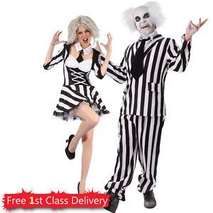 Crazy-Guy-Dead-Physcho-Girl-Couples-Costume-Mens-  sc 1 st  eBay & Crazy Guy Dead Physcho Girl Couples Costume Mens Halloween Fancy ...