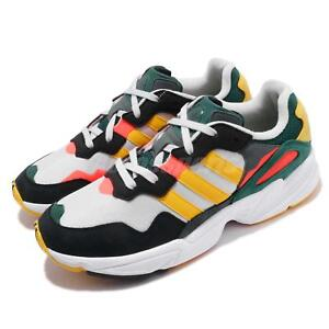 quality design 44722 0e6dd Image is loading adidas-Originals-Yung-96-Grey-Bold-Gold-Red-