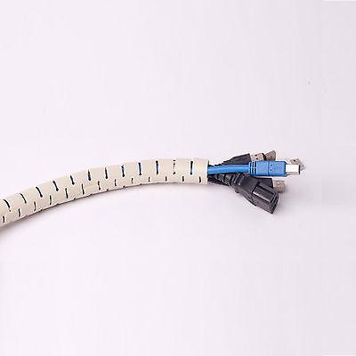 Cord Cable Wire Organizer Control Wraps Management Hiding  15mm 1.5cm Dia Beige