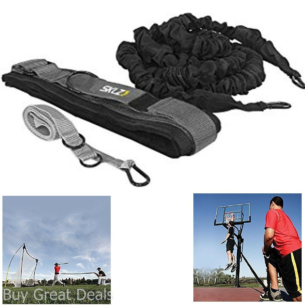 Dynamic Recoil Resistance Trainer Belt W  Bungee Speed Training Agility Exercise