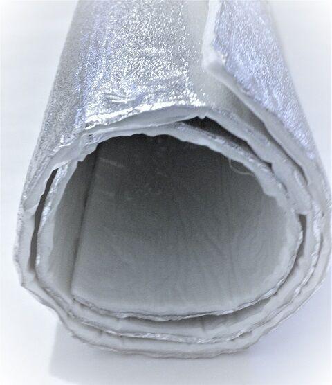 Stuoia in Fibra di Vetro con Alluminio Autoadesivo 1,60m x 1m x 7mm Made Germany