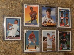 7-Chipper-Jones-1991-Bowman-Upper-Score-Rookie-card-lot-RC-1992-Excel-Topps-93