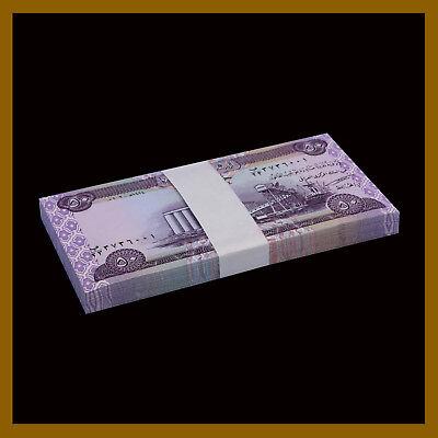50 Dinars x 25 Pcs Bundle Iraq 2003 P-90 Post Saddam Hussein Unc Iraqi
