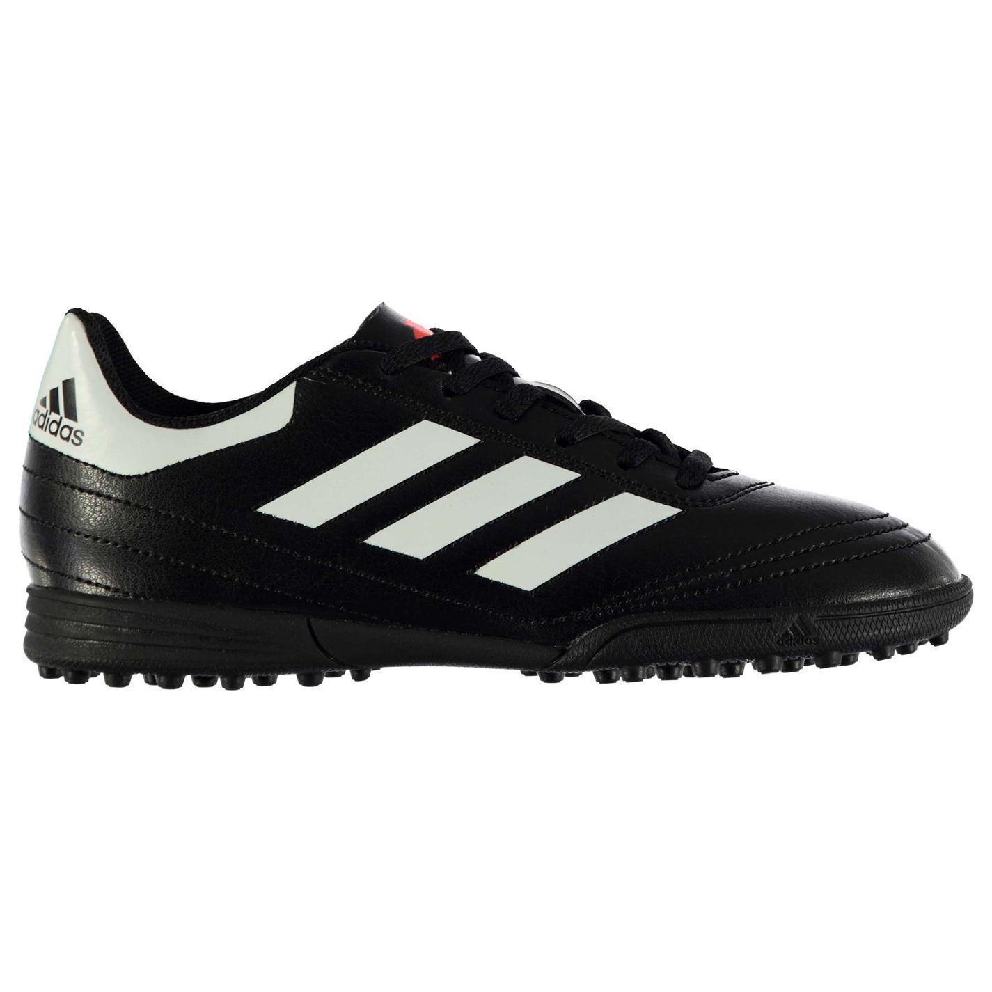 Adidas Goletto Astro Césped Artificial Zapatillas Juniors Negro blancooo Zapatos deportivos de fútbol