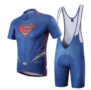 Completo-ciclismo-SuperMan-SpiderMan-estivo-maglia-salopette-MTB-abbigliamento