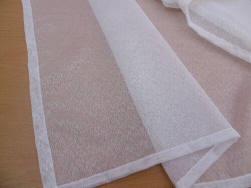 Scheibengardine Fenster 70cm Weiß   140cm x 50cm  hoch Scheibengardinen Gardine