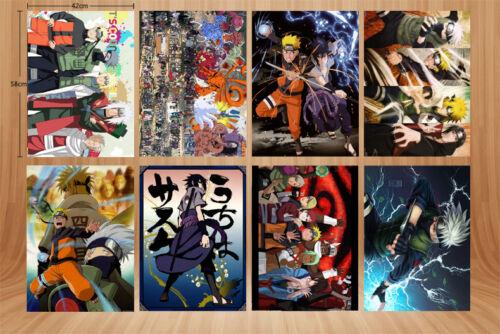 Wall Poster 8PCS//set Naruto A3 Posters Print A