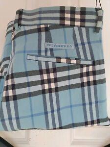Para-Hombre-Super-Chic-Nuevo-con-etiquetas-Burberry-Golf-Pantalones-Cortos-Sarga-de-algodon-W34-034