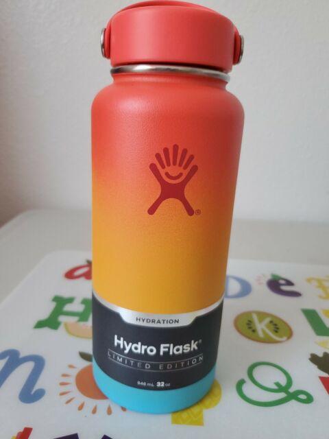 Hydro flask limited edition. KEIKI RAINBOW. wide mouth w/flex cap (15)