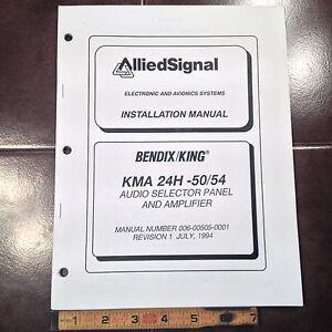 king kma 24h 50 54 audio install manual ebay rh ebay com King KLN 90B Installation Manual Bendix King Avionics