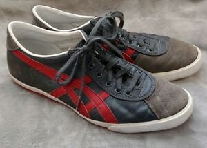 new arrival b7fbb 4f101 Details about Asics Onitsuka Tiger Rotation 77 HL7G0 Grey Leather Red  Sneakers Mens US 11