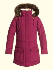 ROXY-Women-039-s-ELLIE-Longline-Puffer-Snow-Jacket-RRV0-Small-NWT-LAST-ONE-LEFT