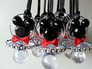 Baby Shower Favors Pacifiers ~ 12 mickey mouse pacifier necklaces baby shower game favors prizes