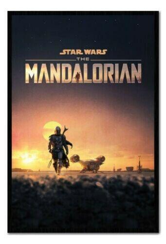 Encadré Star Wars The Mandalorian Crépuscule Affiche Officiel Licence 66x96.5cm