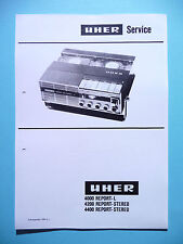 Service Manual-Anleitung für Uher 4400/4200 Report-Stereo/4000 Report-L