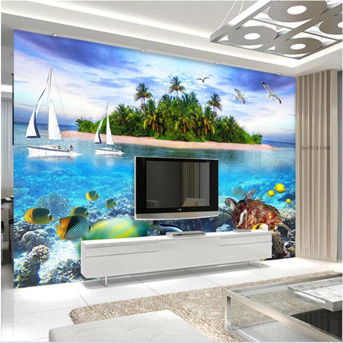 3D Insellandschaft 83 Tapete Wandgemälde Tapete Tapeten Bild Familie DE