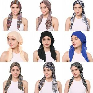 Cotton Women Print Hat Muslim Inner Cover Pirate Cap Arab Hooded Ninja Hijab Lot