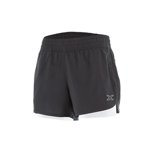 """Haut Femme 2XU X-VENT 4/"""" 2in1 avec compression caleçons shorts de course Noir//Pear"""