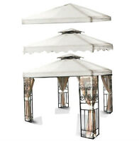 10'x10 Gazebo Canopy Top Cover Replacement Outdoor Garden Patio White